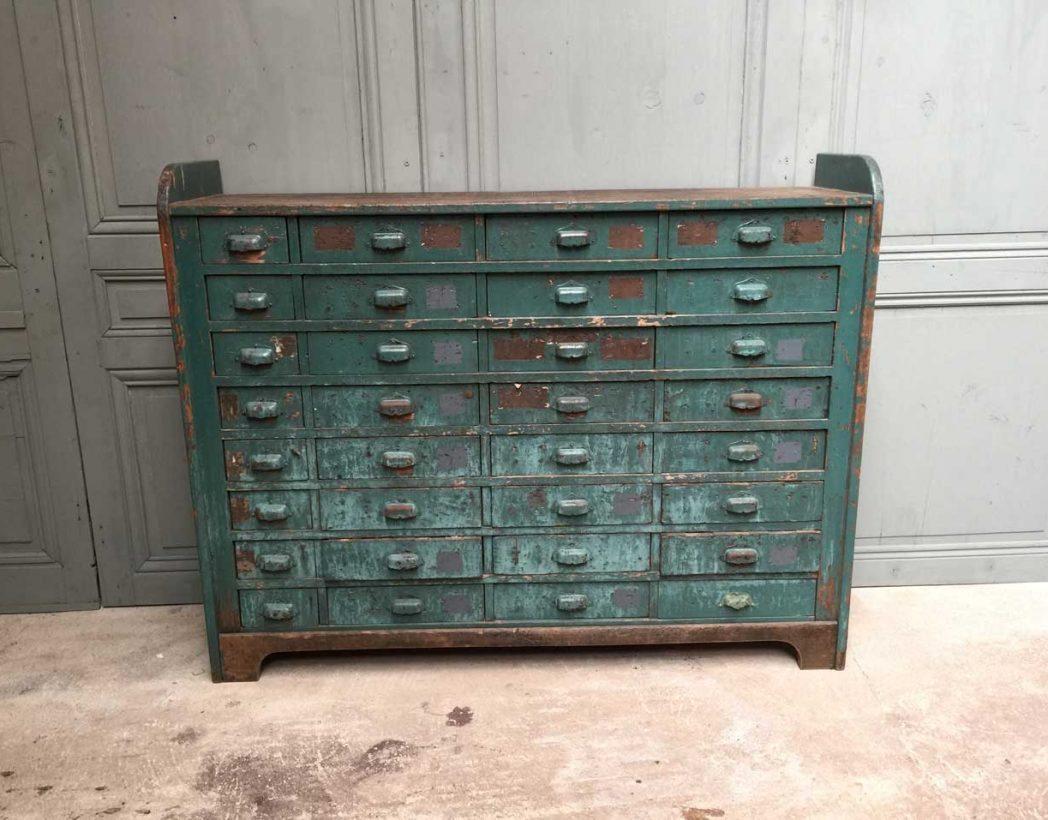 Meuble de m tier atelier 32 tiroirs for Ancien meuble a tiroir