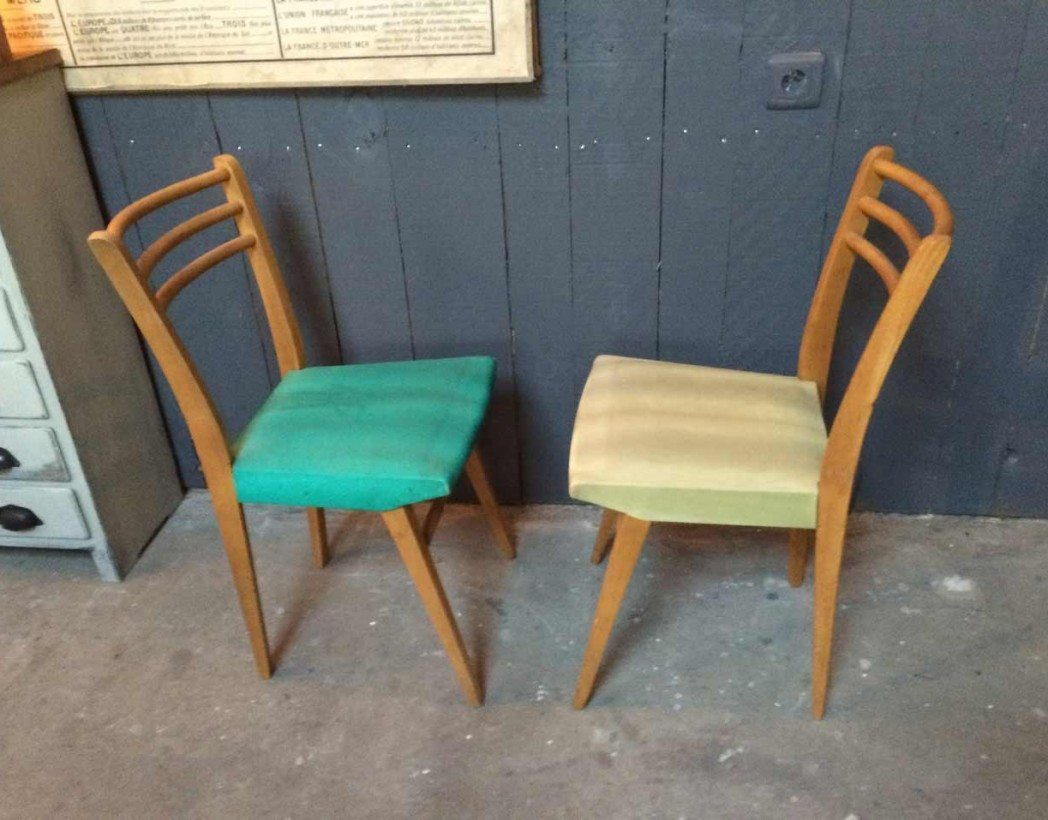 chaise annee 50 60 5francs 5 - Chaise Annee 50