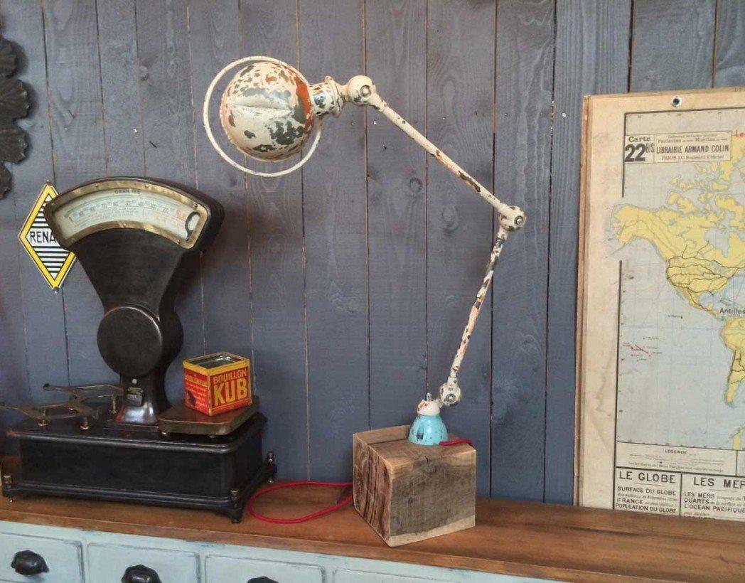 authentique lampe jield 2 bras. Black Bedroom Furniture Sets. Home Design Ideas