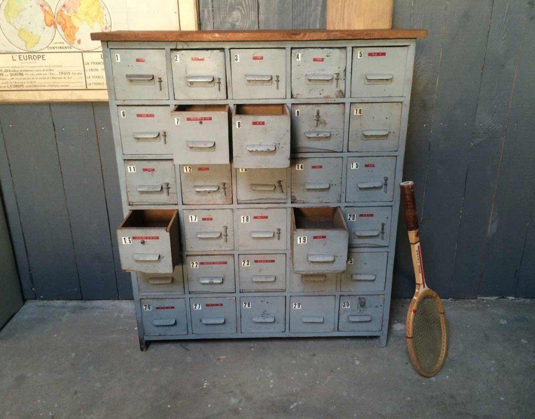 Meuble de m tier atelier 30 tiroirs - Meuble metier ...