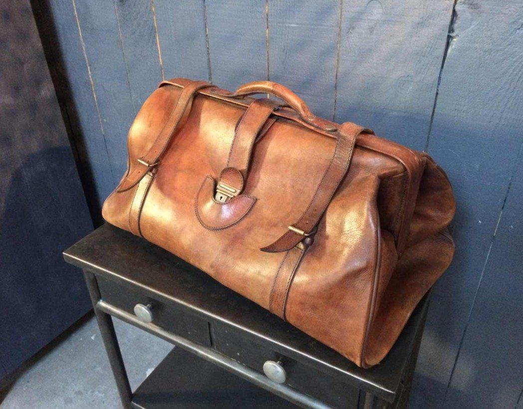 db4e578cb3 Sac de voyage en cuir vintage