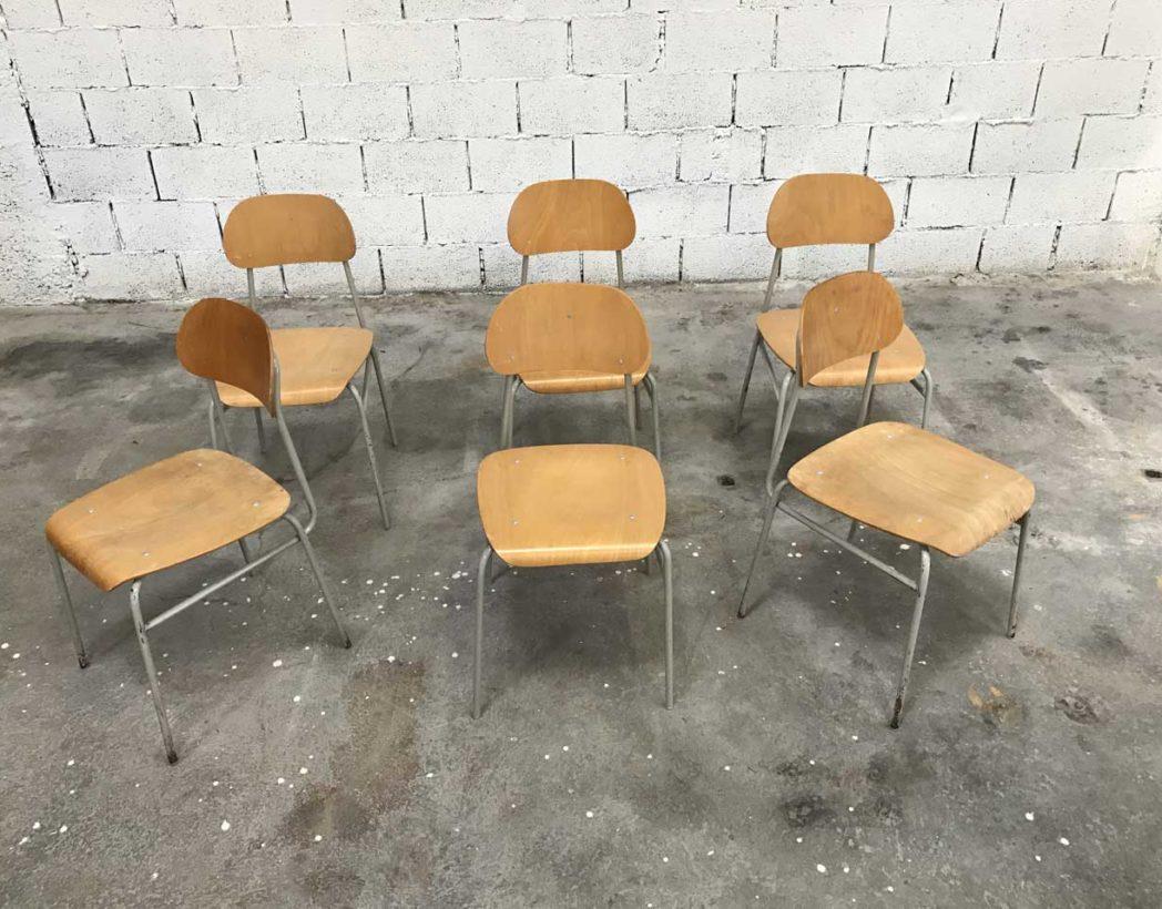 chaise-ecole-tcheque-bois-metal-ligne-epuree-vintage-lot-5francs-2