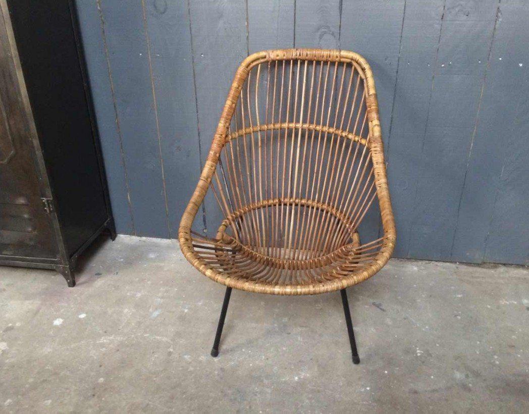 Chaise en rotin vintage - Chaise rotin vintage ...