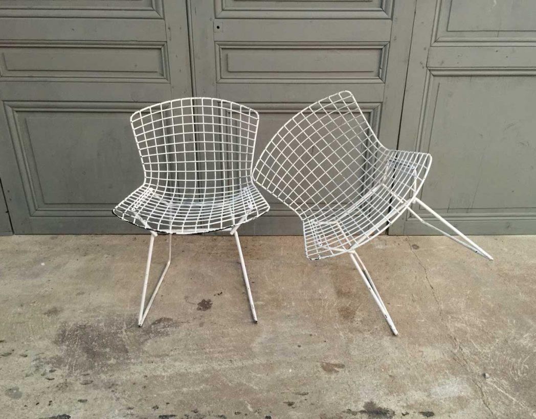 paire chaises harry bertoia pour knoll. Black Bedroom Furniture Sets. Home Design Ideas