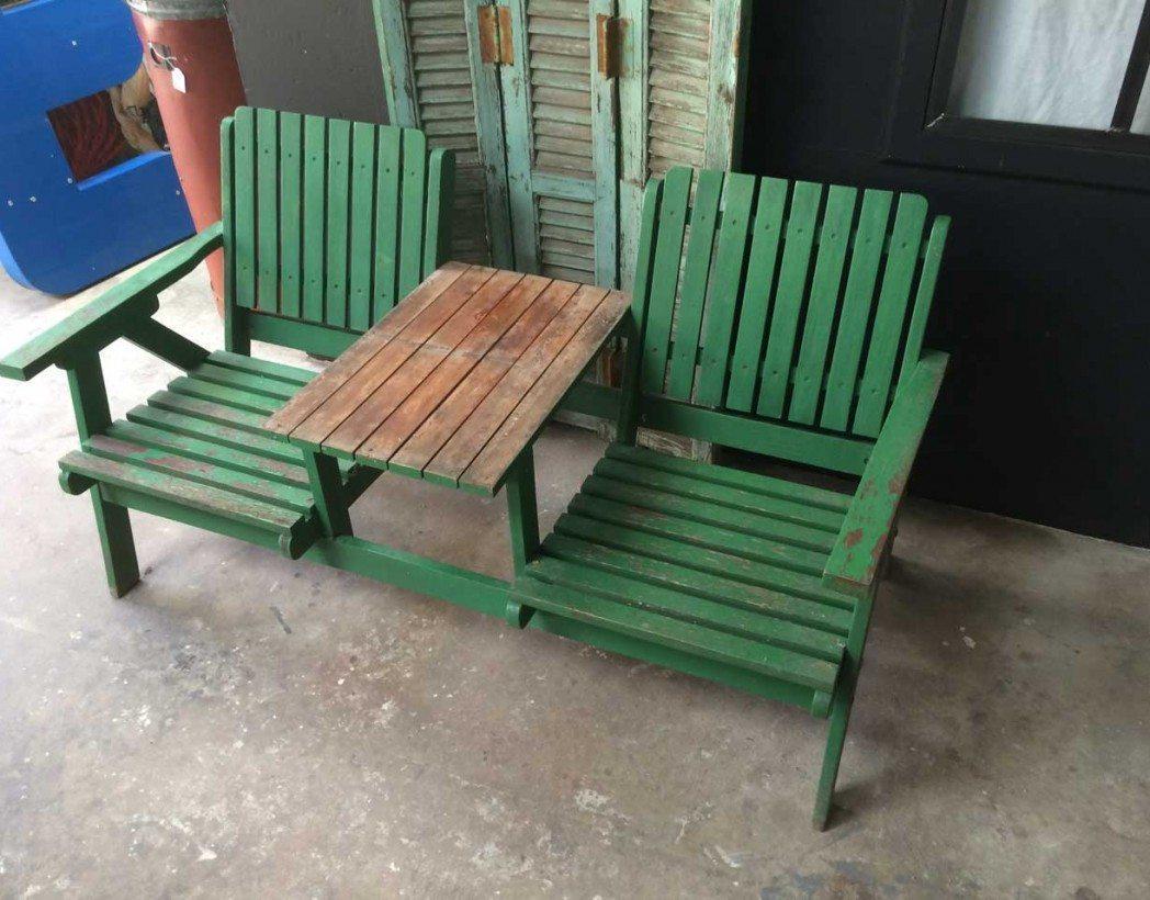 fauteuil double de jardin adirondack. Black Bedroom Furniture Sets. Home Design Ideas