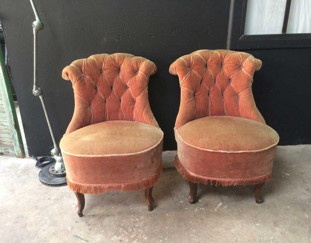 paire fauteuils crapauds. Black Bedroom Furniture Sets. Home Design Ideas