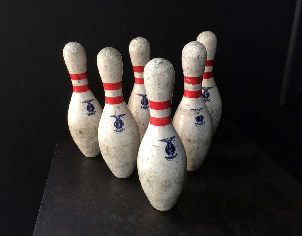Authentiques quilles de bowling usa for Decoration quille de bowling