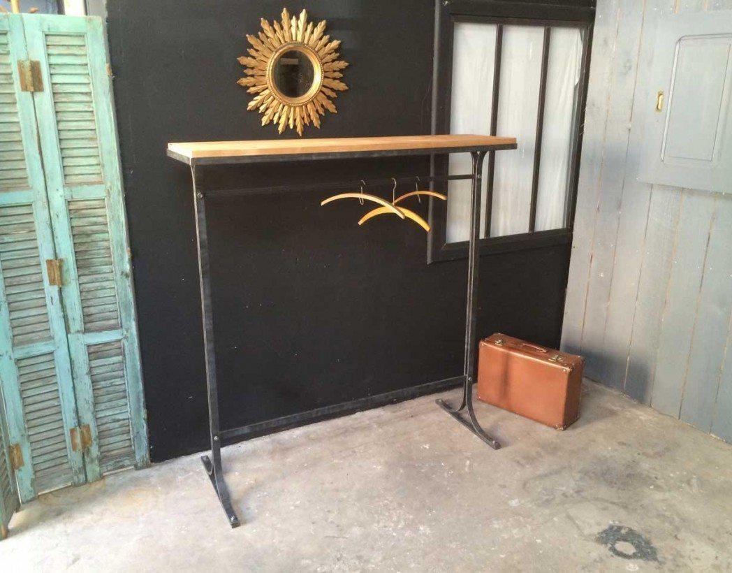 ancien portant de magasin. Black Bedroom Furniture Sets. Home Design Ideas