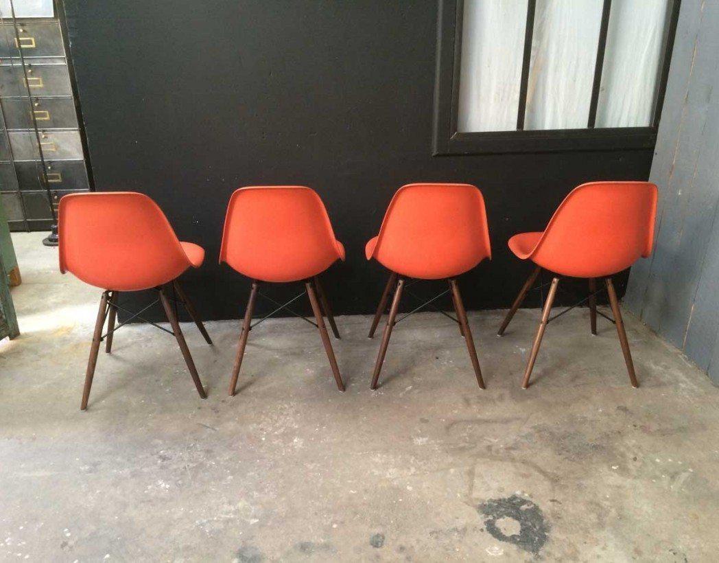v ritables chaises eames dsw corail. Black Bedroom Furniture Sets. Home Design Ideas