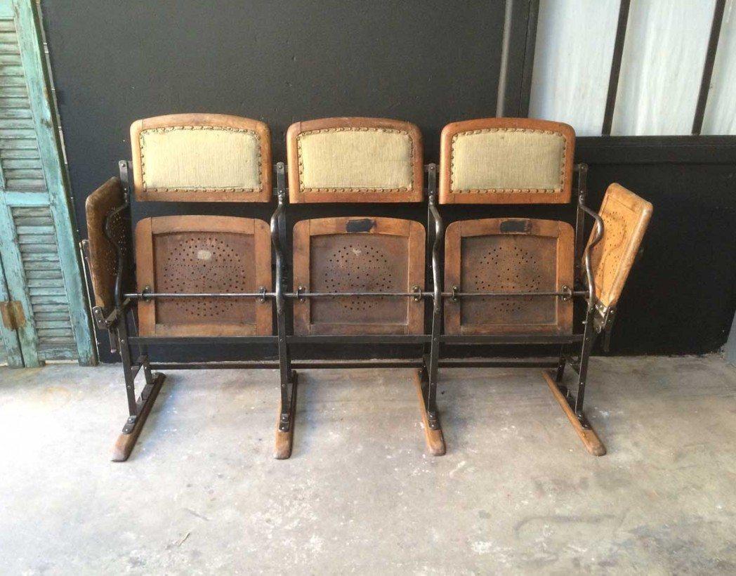 sieges de cinema bois et m tal. Black Bedroom Furniture Sets. Home Design Ideas