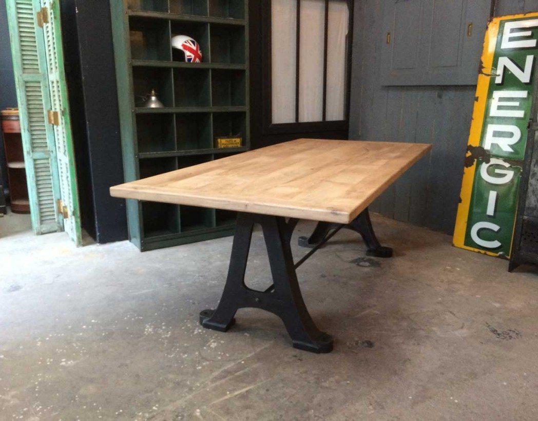 Table industrielle anciens pi tements en fonte - Pieds de table en fonte ...