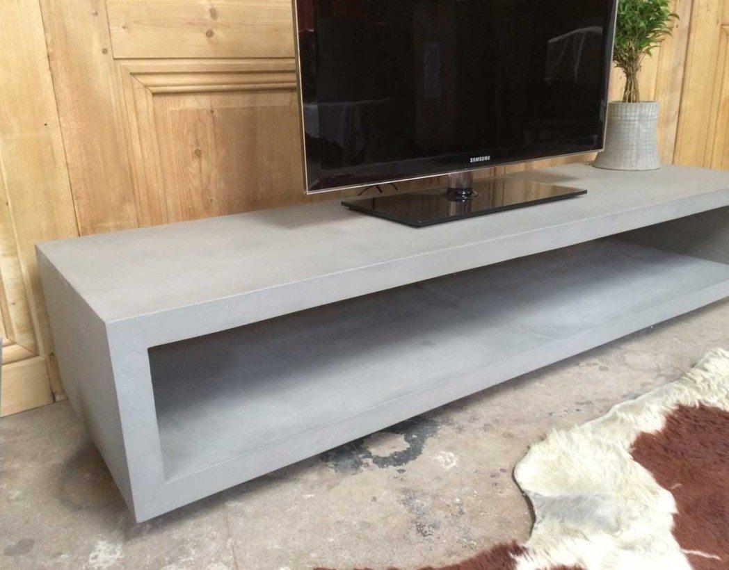 Meuble Tv Beton : meuble tv en b ton ~ Teatrodelosmanantiales.com Idées de Décoration
