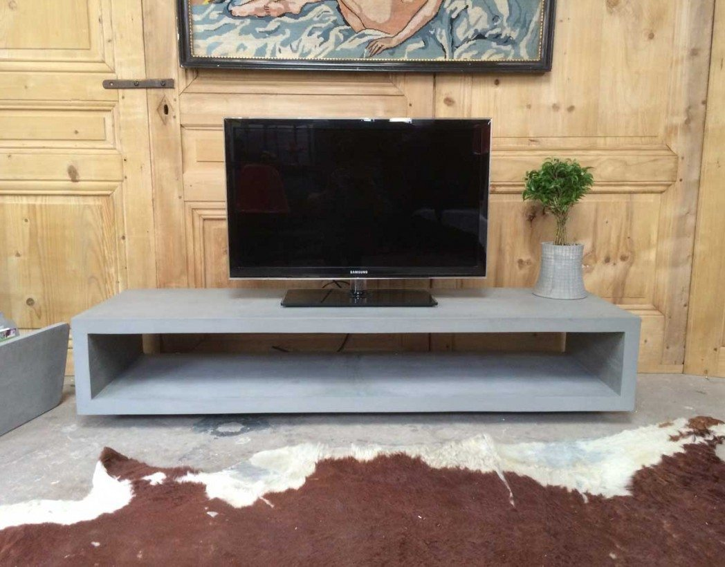 meuble tv en b ton. Black Bedroom Furniture Sets. Home Design Ideas