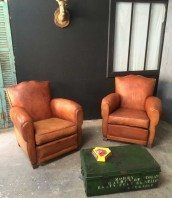 le lit de vos r ves fauteuils club anciens cuir. Black Bedroom Furniture Sets. Home Design Ideas