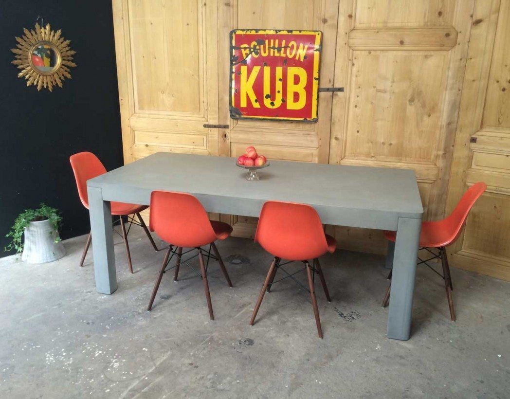 Table en b ton xxl for Table a manger beton