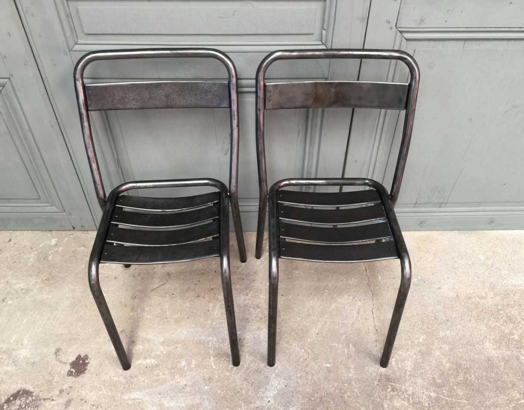 Charmant Chaises Metal Tolix #11: Ancienne-chaise-tolix-t1-vintage-bistrot-metal-5francs-