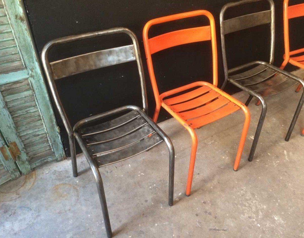 ensemble de 4 chaises tolix t1 5 francs. Black Bedroom Furniture Sets. Home Design Ideas