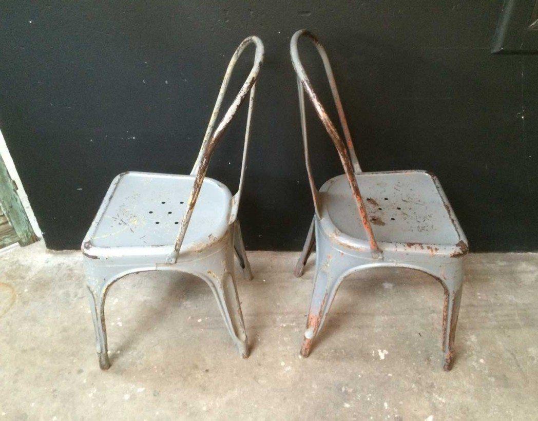 V ritable tolix mod le a grise - Ancienne chaise tolix ...