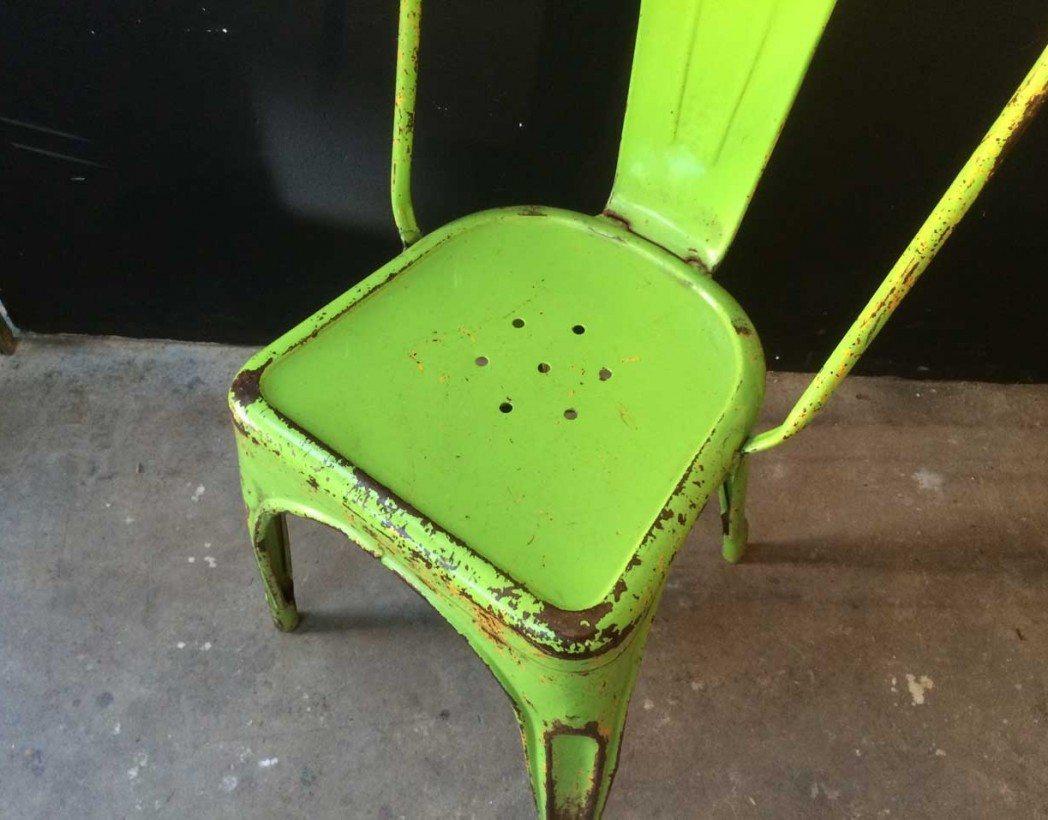 V ritable tolix mod le a vert anis - Ancienne chaise tolix ...
