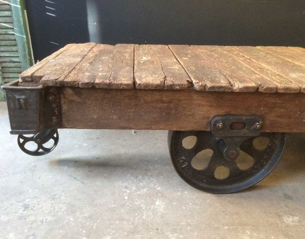 chariot-industriel-usa-ancien-table-basse-5francs-5