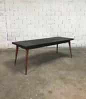 ancienne grande table tolix 200cm patine pauchard industrielle 5francs 1 172x198 - Rare ancienne grande table Tolix pieds rouge et plateau décapé