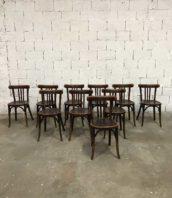 lot 16 chaise baumann bistrot annee30 dossier bas 5francs 1 172x198 - Ensemble de 16 chaises bistrot Baumann année 30 dossier bas