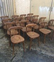 Table et chaise bistrot ancienne - Chaise bistrot ancienne baumann ...