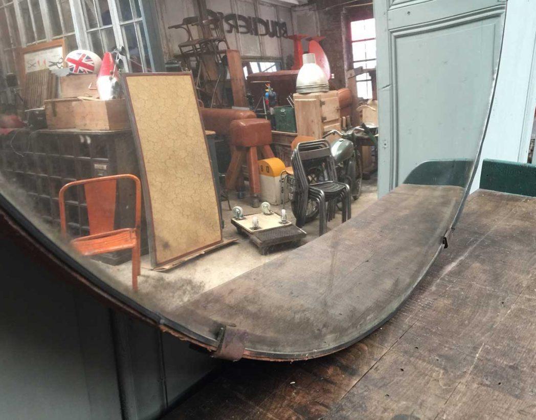 Ancien grand miroir convexe for Miroir bombe rond