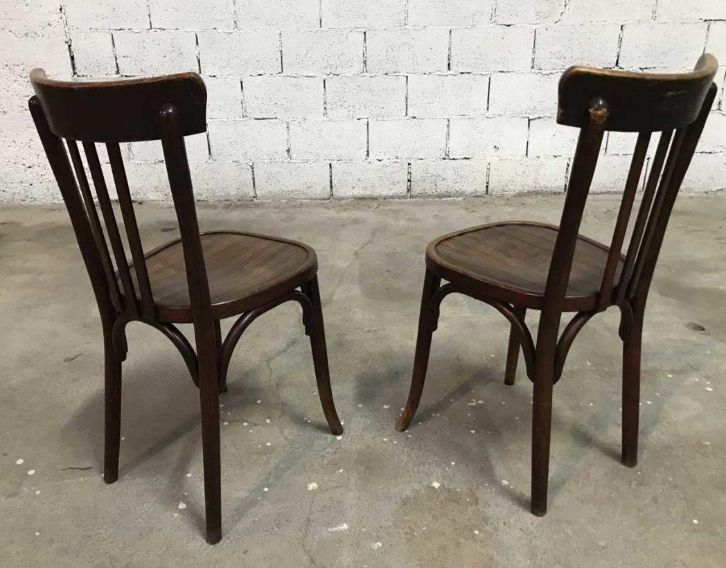 Rare ensemble 68 chaises bistrot baumann dossier haut for Chaise bistrot baumann prix