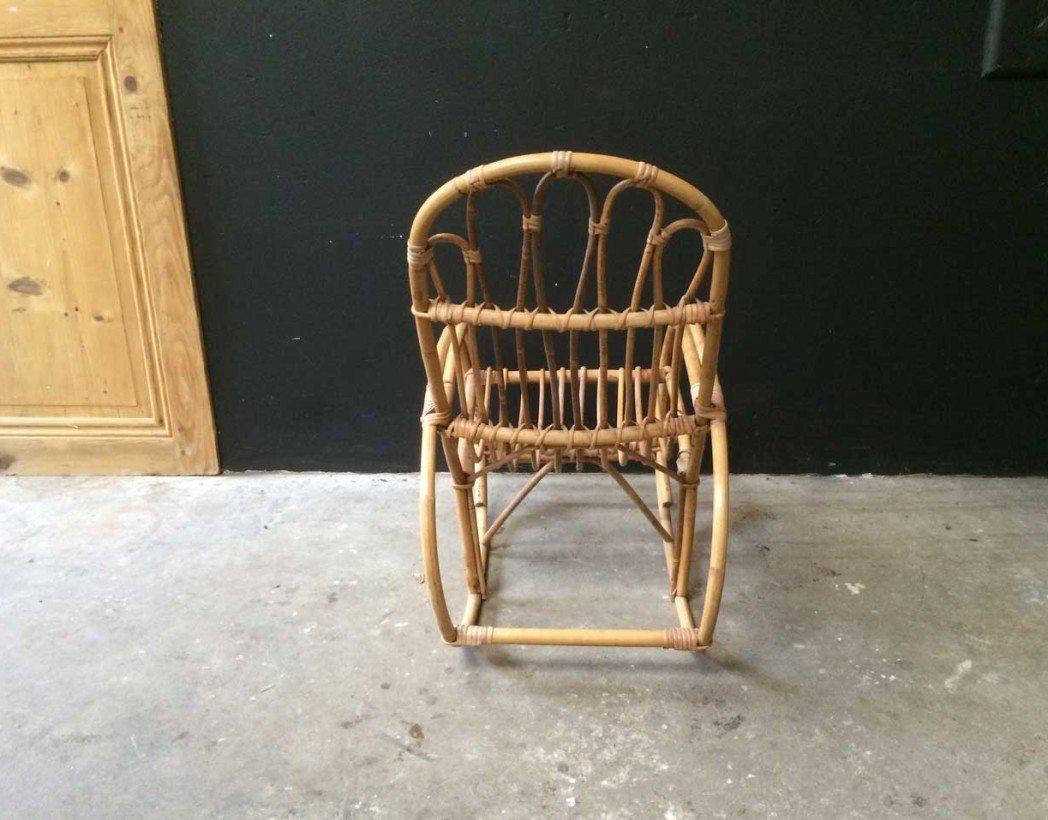 rocking chair rotin enfant vintage. Black Bedroom Furniture Sets. Home Design Ideas