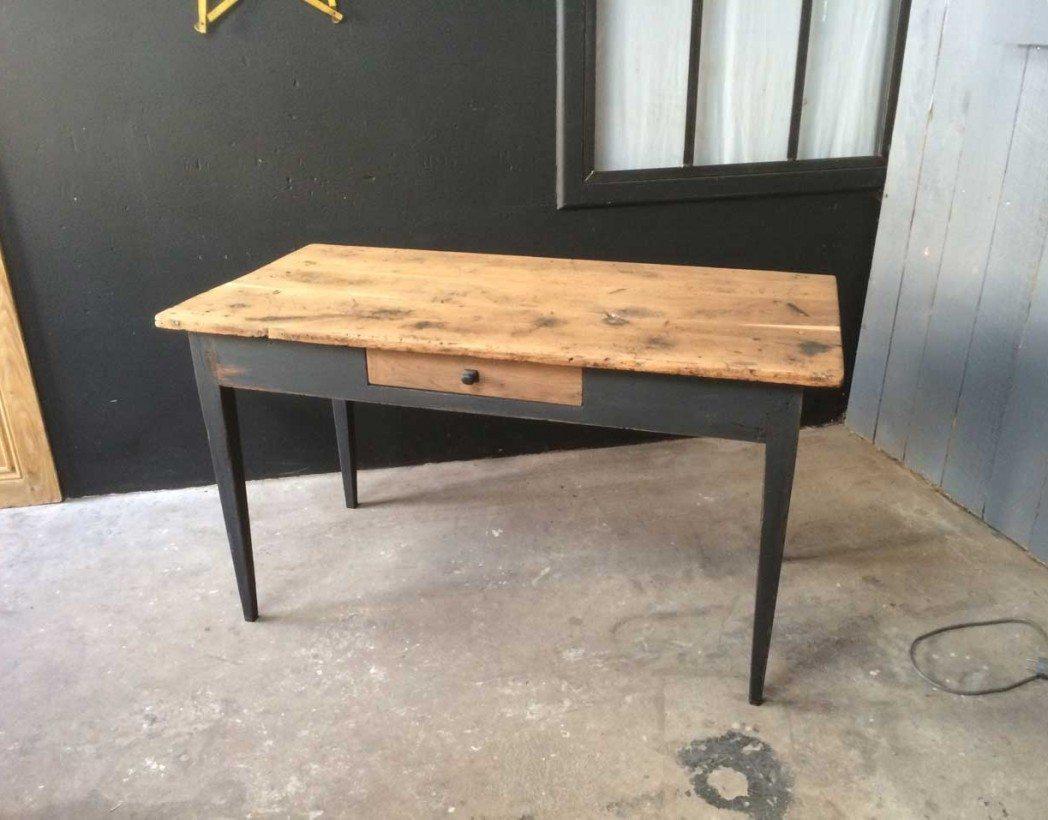 Table bistrot ancienne des ann es 20 30 bois et m tal - Table de bistrot occasion ...