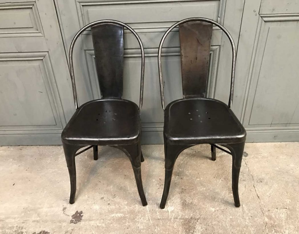 chaises tolix anciennes perfect chaise tolix occasion chaise esprit tolix en mactal tabouret. Black Bedroom Furniture Sets. Home Design Ideas