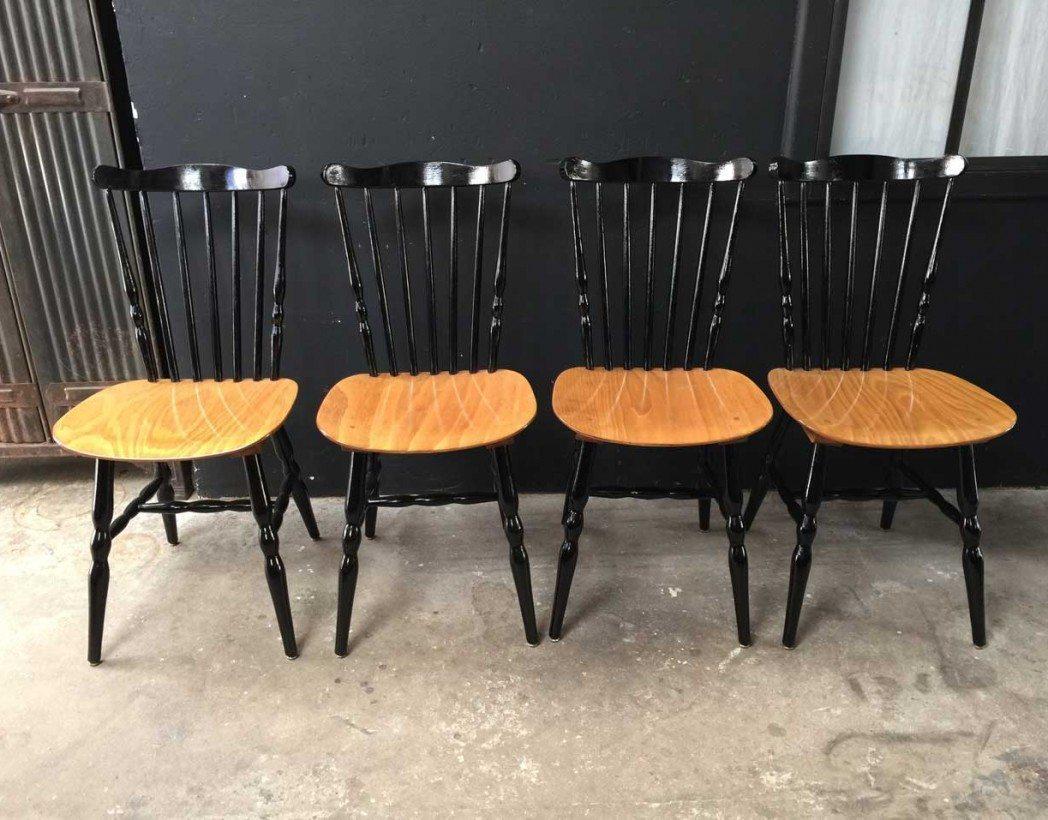 Ensemble de 4 chaises baumann for Chaise baumann