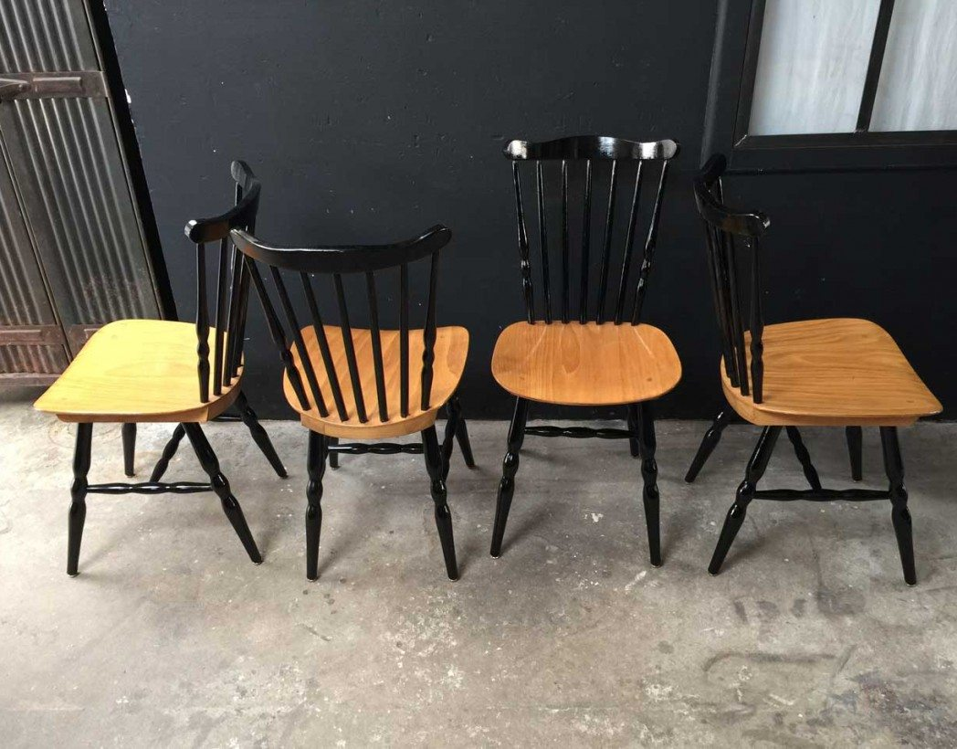 Ensemble de 4 chaises baumann for Chaise bistrot baumann prix