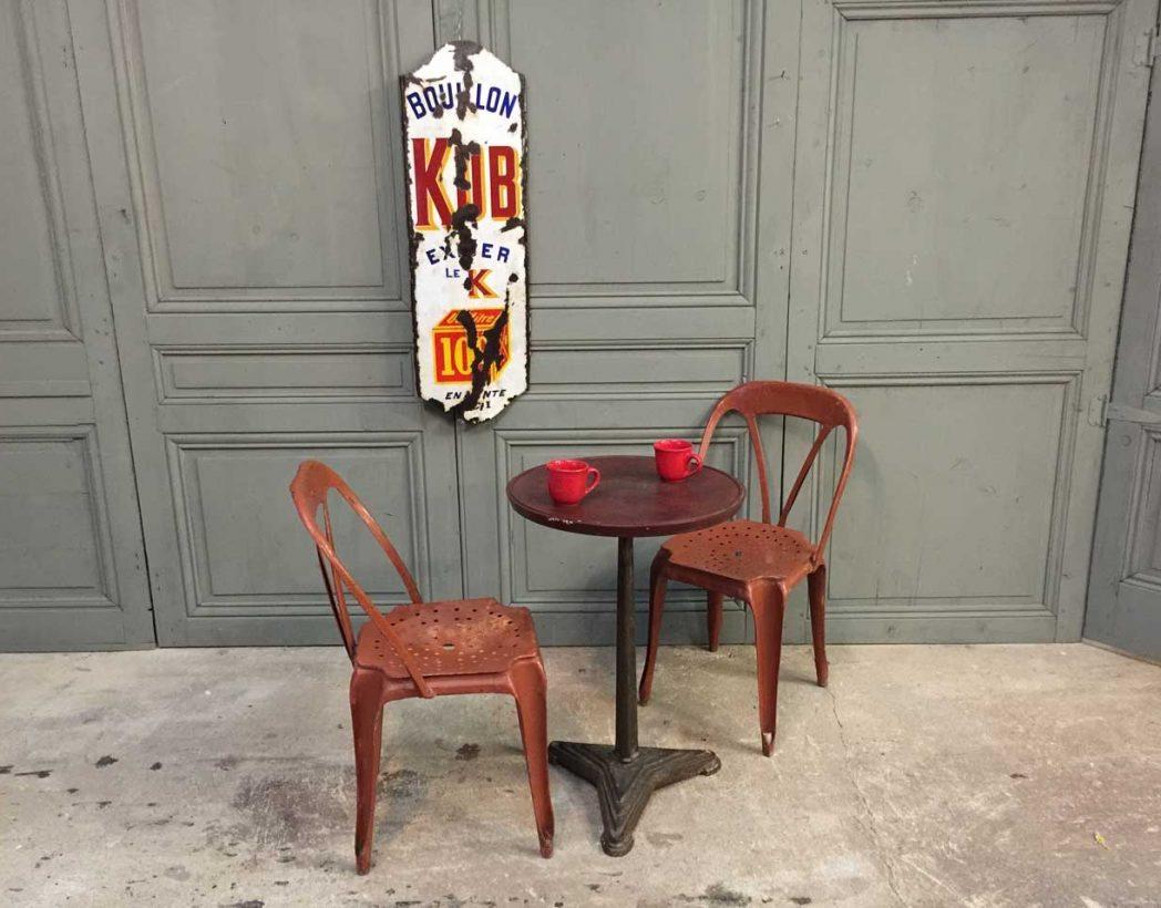 Paire d 39 ancienne chaises multipl 39 s - Chaise industrielle ancienne ...