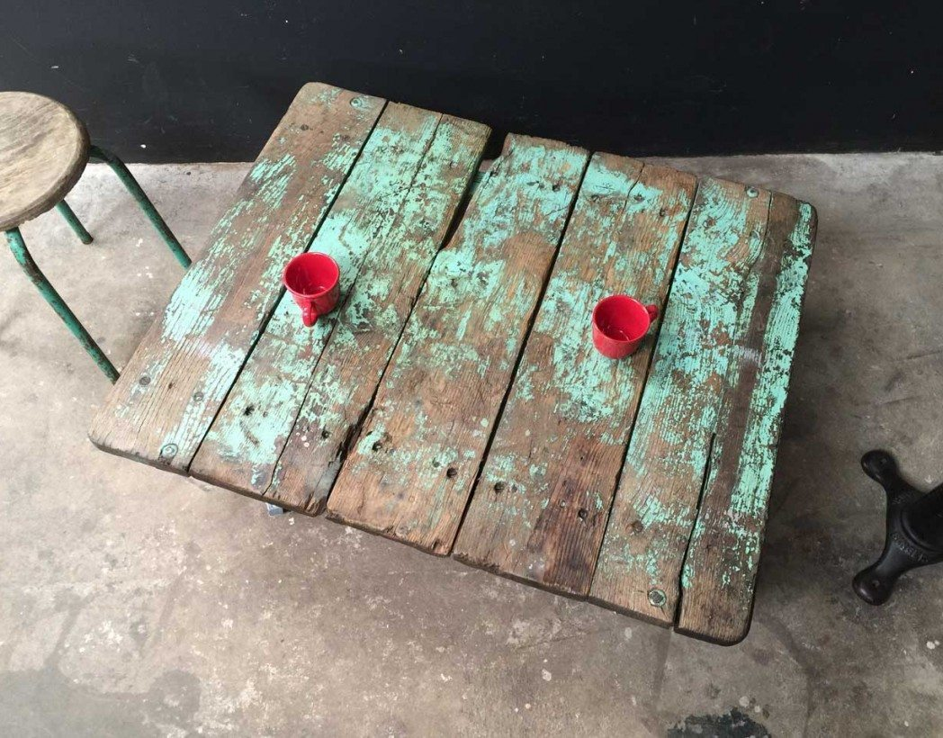 ancienne palette table basse