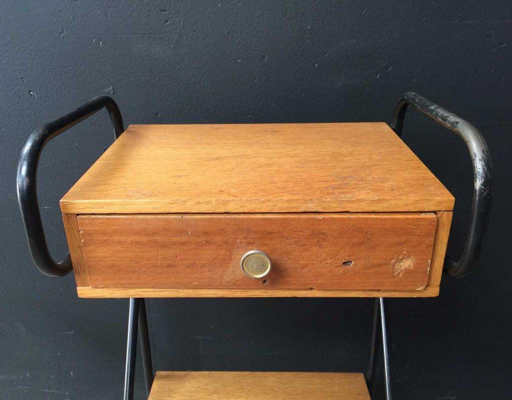 table de nuit vintage jacques hitier. Black Bedroom Furniture Sets. Home Design Ideas