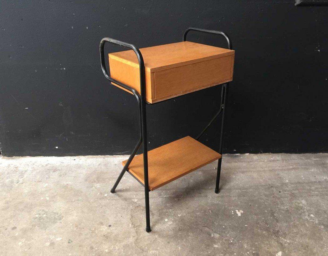 Table de nuit vintage jacques hitier - Mini table de nuit ...