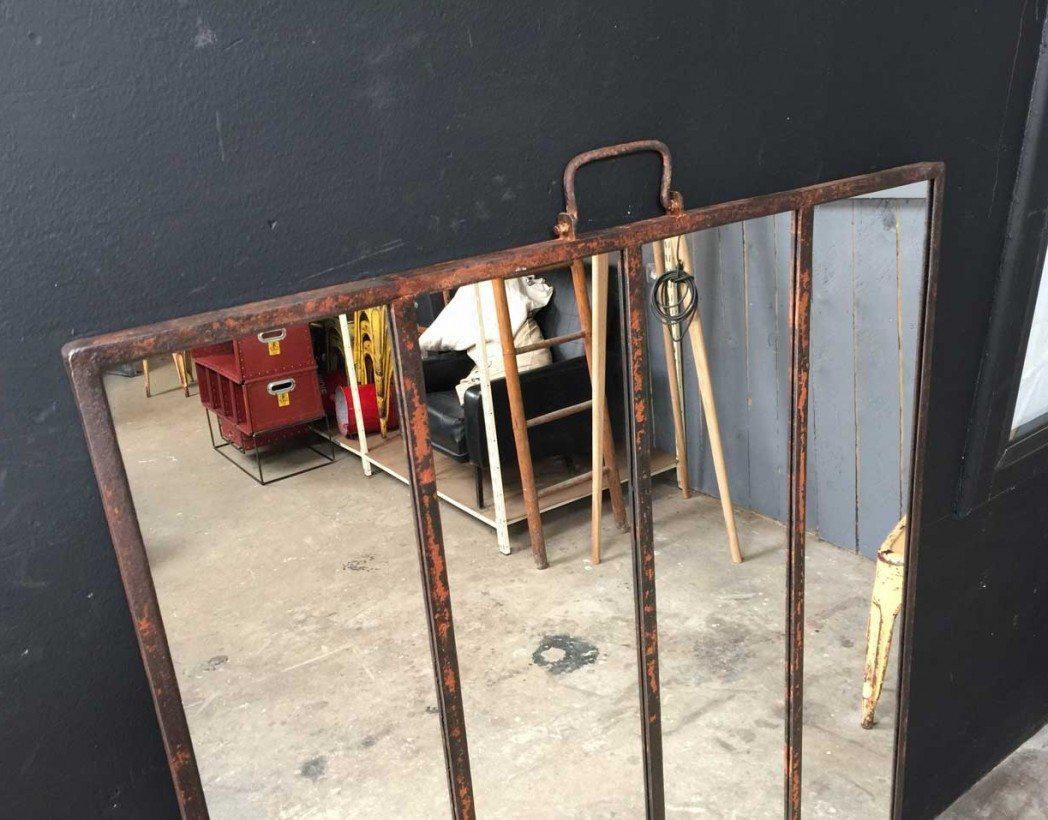 Ancienne verri re miroir Miroir usine deco