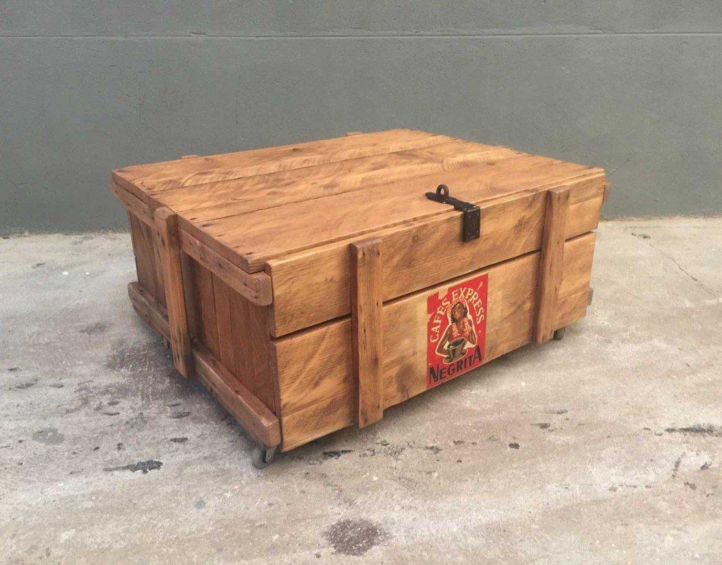 Table basse caisse en bois negrita - Table basse avec des caisses en bois ...