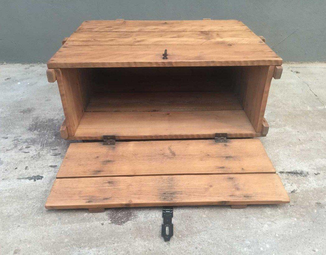 Table basse caisse en bois negrita - Table basse avec caisse en bois ...