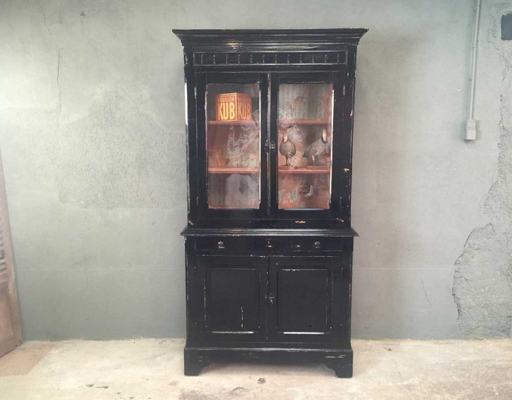 buffet deux corps style napol on iii. Black Bedroom Furniture Sets. Home Design Ideas