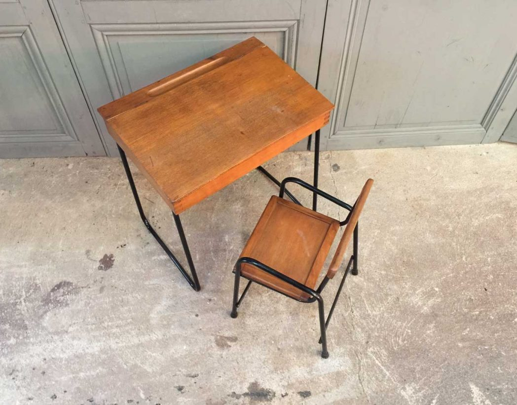 Ensemble bureau et chaise enfant vintage - Chaise bureau enfant but ...