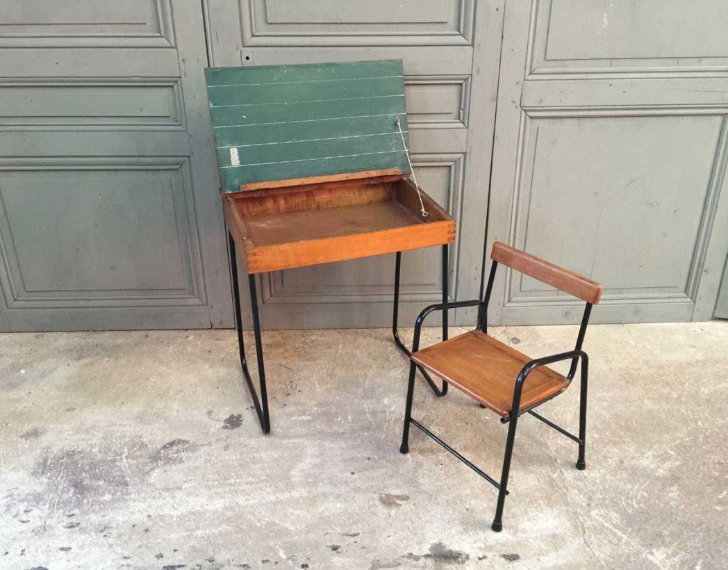Ensemble bureau et chaise enfant vintage - Accessoire bureau enfant ...
