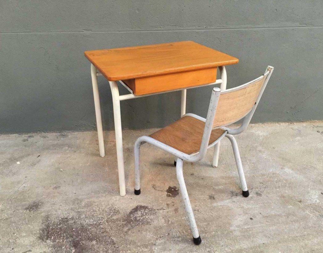 Ensemble bureau et chaise enfant vintage 5 francs - Bureau et chaise enfant ...