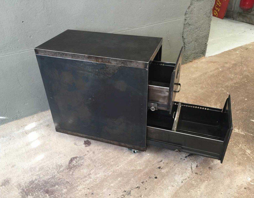 Caisson deux tiroirs industriel - Casier metallique industriel ...