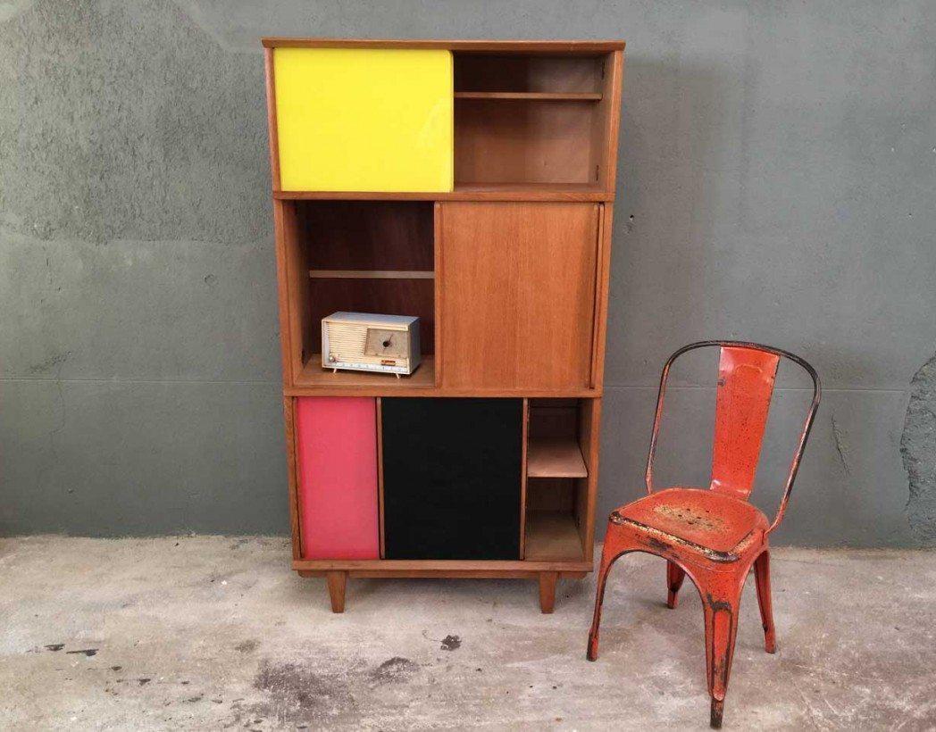 meuble rangement oscar bois et medium fabrication fran aise dans les ann es 50. Black Bedroom Furniture Sets. Home Design Ideas