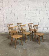 lot 10 chaises bistrot thon claire tapiovaara 5francs 1 172x198 - Ensemble 20 chaises bistrot vintage de marque THON