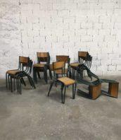 lot 30 chaise ecole mullca verte ancienne 5francs 9 172x198 - Stock chaises école Mullca 510 patine verte vintage