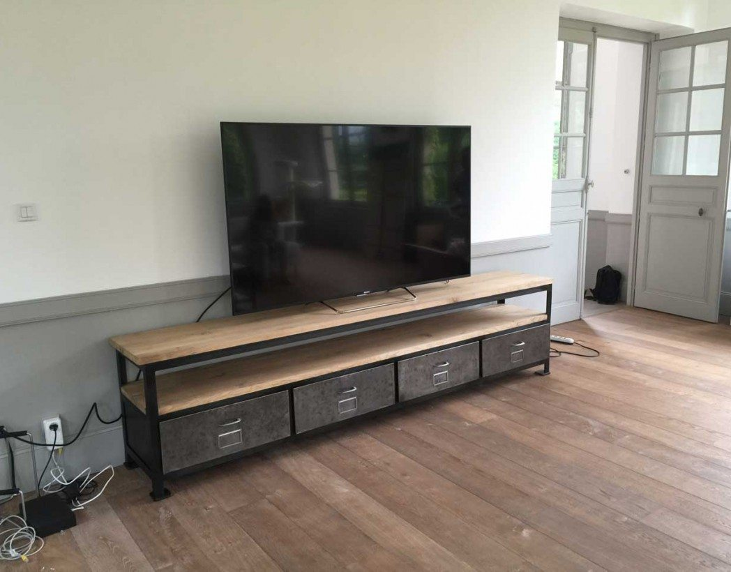 meuble tv industriel xxl cr ation